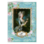 Marie Antoinette with Pink Roses and Lace