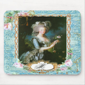 Marie Antoinette with Pink Roses and Lace Mouse Pad