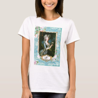 Marie Antoinette with Pink Roses and Lace T-Shirt