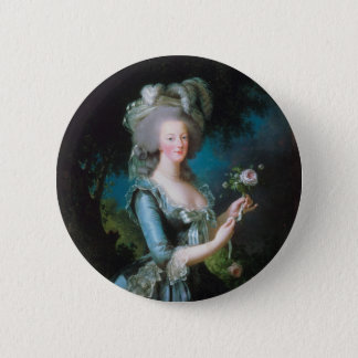 Marie Antoinette with the Rose by Elisabeth Lebrun 6 Cm Round Badge