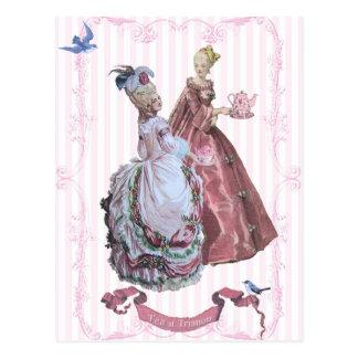 Marie AntoinetteTea at Trianon Postcard