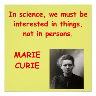 Marie Curie quote Poster