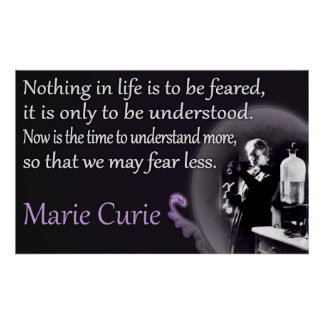Marie Curie | Understood, Not Feared Poster
