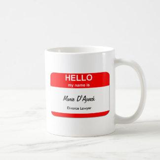Marie D'Ajurck, Divorce Lawyer Basic White Mug