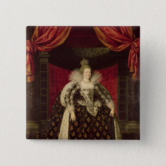Marie de Medici  in Coronation Robes, c.1610 15 Cm Square Badge