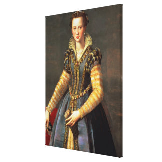 Marie de Medici , wife of Henri IV of France Canvas Print