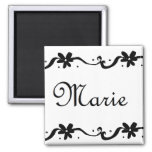 Marie Floral Name Refrigerator Magnet