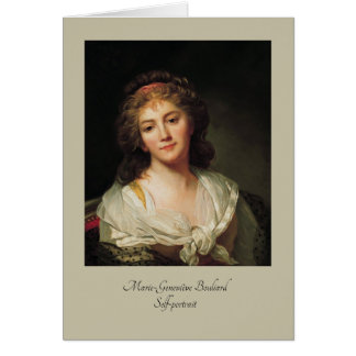 Marie-Geneviève Bouliard, Self-portrait Card