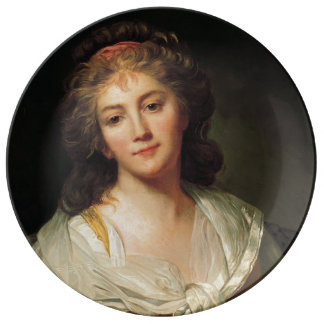 Marie-Geneviève Bouliard, Self-portrait Plate