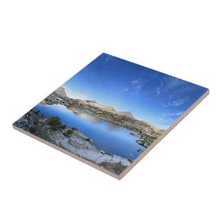Marie Lake Morning Panorama - John Muir Trail Ceramic Tile