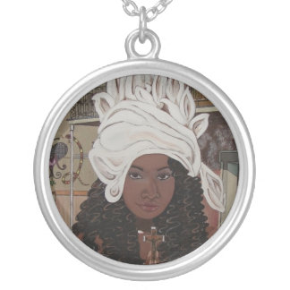Marie Laveau Silver Plated Necklace