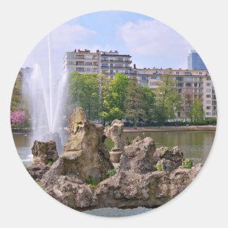 Marie-Louise square in Brussels, Belgium Classic Round Sticker
