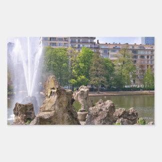Marie-Louise square in Brussels, Belgium Rectangular Sticker