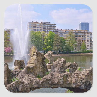 Marie-Louise square in Brussels, Belgium Square Sticker