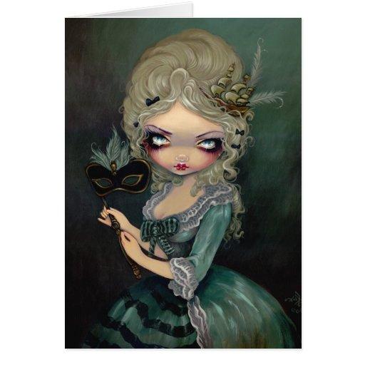 """Marie Masquerade"" Greeting Card"