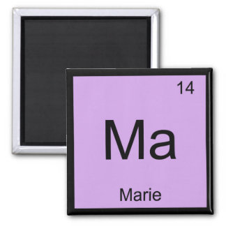Marie Name Chemistry Element Periodic Table Square Magnet