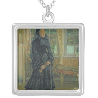 Marie Zacharias  Rainy Day, 1904 Silver Plated Necklace