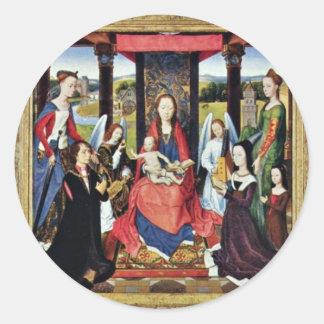 Marienaltar Sir John Donne Of Kidwelly Round Sticker