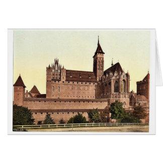 Marienburg, east side, Prussia, Germany (i.e., Mal Greeting Card