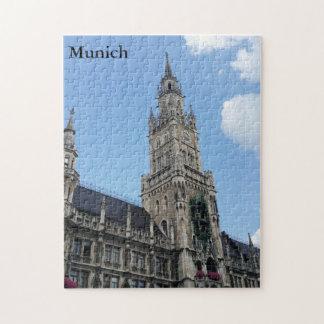 Marienplatz-Townhall in Munich Jigsaw Puzzle