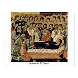 Marientod By Duccio Postcard
