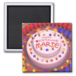 Marie's Birthday Cake Magnets