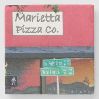 Marietta Pizza Marietta, Ga. Marble Stone Coaster