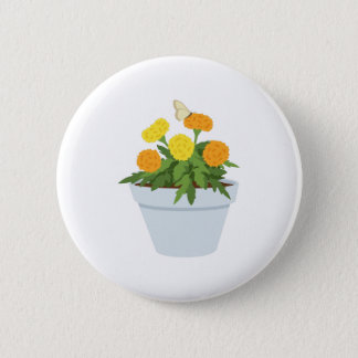 Marigold Butterfly 6 Cm Round Badge