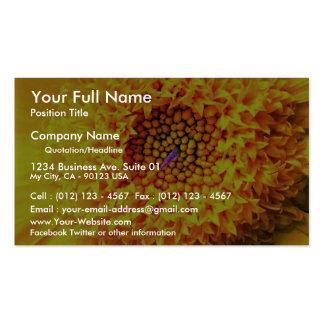 Marigold close-up business card templates