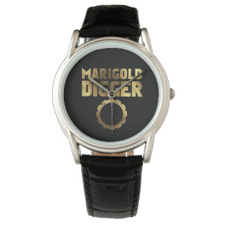 Marigold digger black gold watch