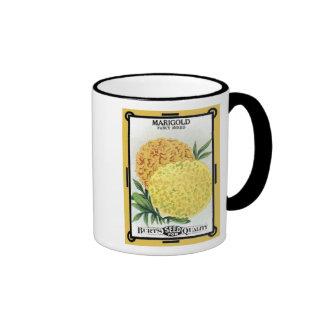 Marigold Fancy Mixed, Burt's Seeds Ringer Mug