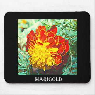 Marigold Floral Emblem Mouse Pad