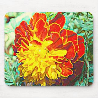 Marigold Floral Emblem Mousepad