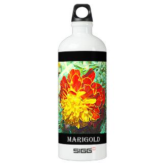 Marigold Floral Emblem Water Bottle