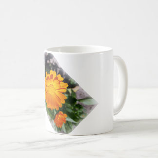 marigold flower coffee mug