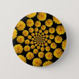 Marigold Flowers 6 Cm Round Badge