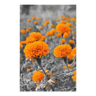 Marigold or Tagetes flowers Customized Stationery