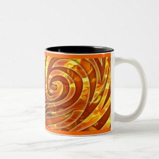 Marigold swirl mug