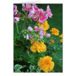 Marigolds and Geranium Note Card