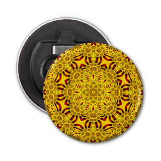 Marigolds Kaleidoscope    Magnetic Bottle Openers