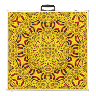 "Marigolds  Vintage Kaleidoscope 96""  Pong Table"
