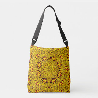 Marigolds Vintage Kaleidoscope  Cross Body Bag