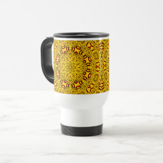 Marigolds Vintage Kaleidoscope   Travel Mug