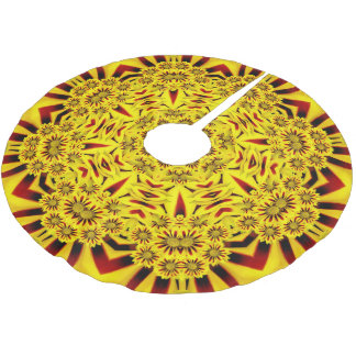 Marigolds Vintage Kaleidoscope  Tree Skirt