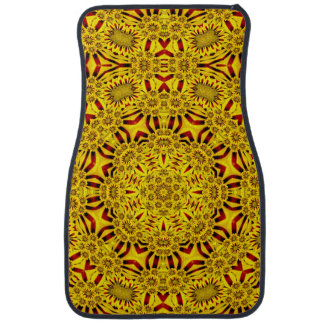Marigolds Vintage Yellow Red  Car Mats Front