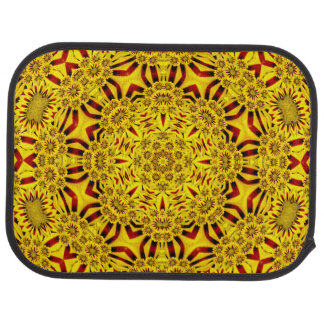 Marigolds Vintage Yellow Red  Car Mats  rear