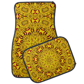 Marigolds Vintage Yellow Red  Car Mats set of 4