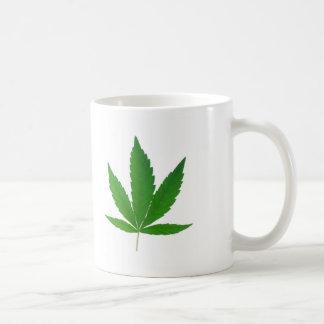 marihuana leave basic white mug