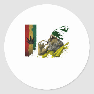 Marihuana Round Sticker