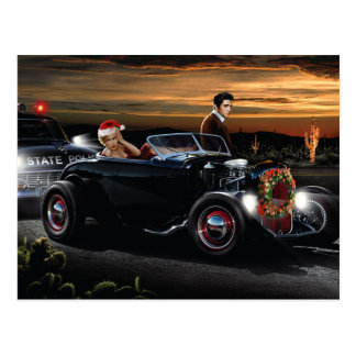 Marilyn and Elvis Christmas Joy Ride Postcard